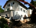 Versetzten des Beton-Behälter